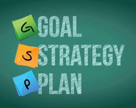 goal policy strategy plan, illustration design over white Stock Vector - 17823541