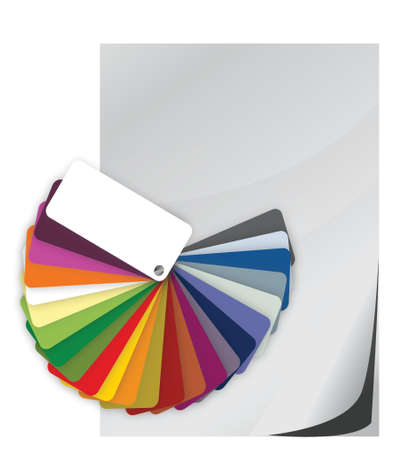 Color guide spectrum swatch and blank paper illustration Illustration
