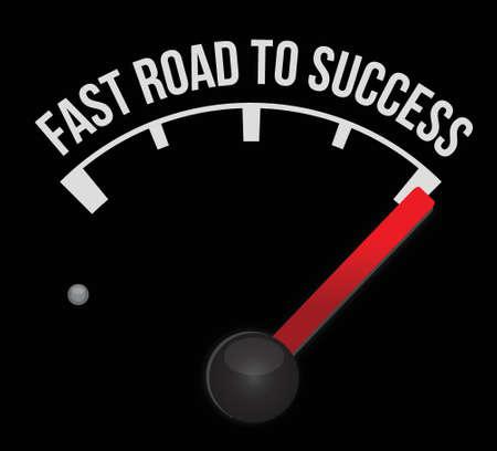 meter scoring fast road to success illustration design Stock Vector - 17823376
