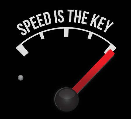 得点スピード メーターがキーのイラスト デザインです。  イラスト・ベクター素材