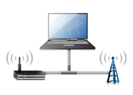 dsl: router electronic technology communication illustration design graphic