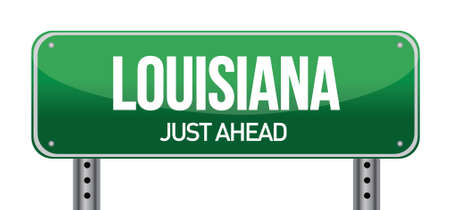 green Louisiana, USA street sign illustration design Vector