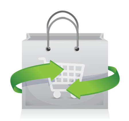 shopping cart icon: shopping and sale on the move concept illustration design Illustration