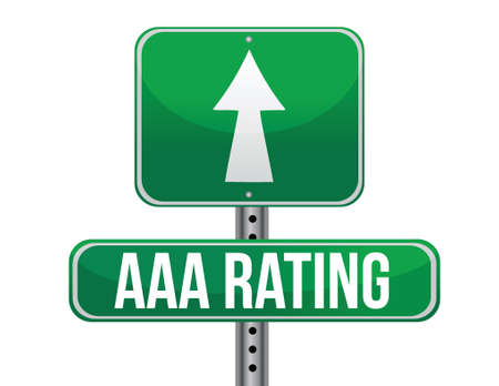 rating: AAA rating sign illustration design over a white background