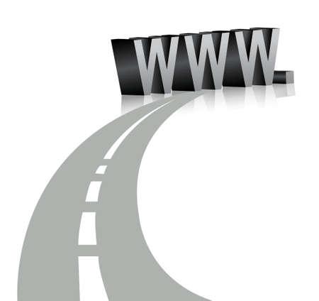 Internet symbol www illustration design over white Stock Vector - 17823880