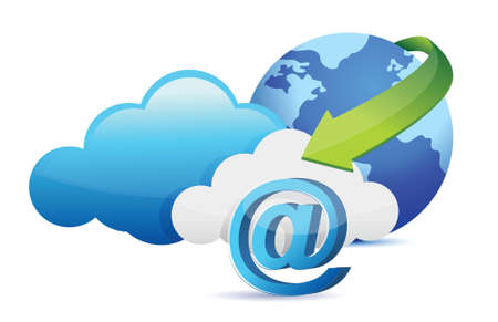 at sign cloud computing moving concept illustration design Stock Vector - 17823969