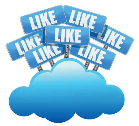 cloud computing like Social media networking concept illustration design over white Stock Vector - 17823954