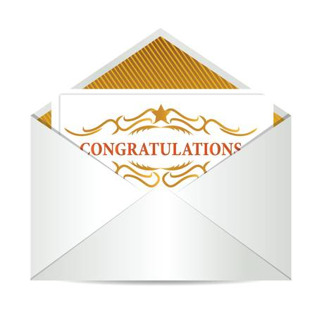 congratulations mail illustration design over a white background Vector