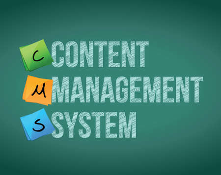 content writing: Content Management System illustration design over a white background Illustration