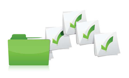 shifting: Sending files from folder illustration design over a white background