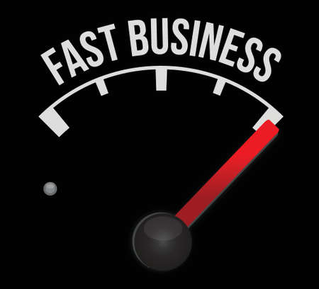 high speed: fast business meter scoring high speed illustration design over white Illustration