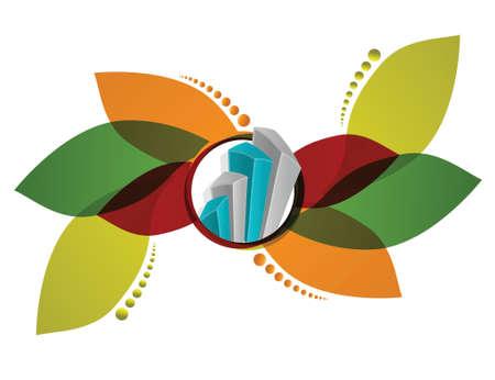 diagrama de arbol: gr�fico, ilustraci�n, dise�o floral de negocios sobre un fondo blanco
