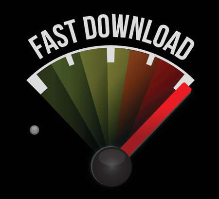 fast download meter illustration design over a white background Vector
