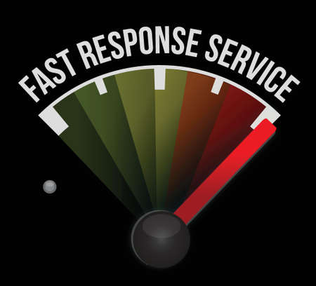 fast response service meter illustration design over a white background Stock Vector - 17824148