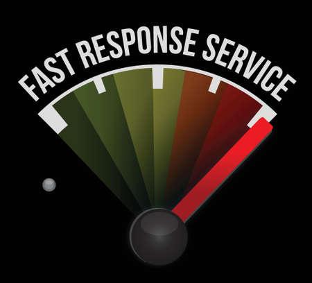 response: fast response service meter illustration design over a white background Illustration