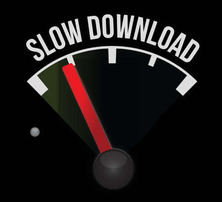 slow download meter illustration design over a white background Illusztráció