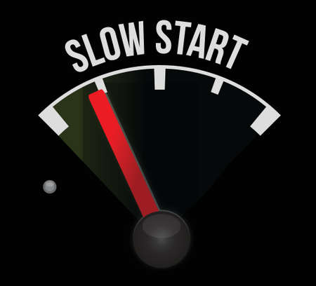 slow: slow start meter illustration design over a white background Illustration