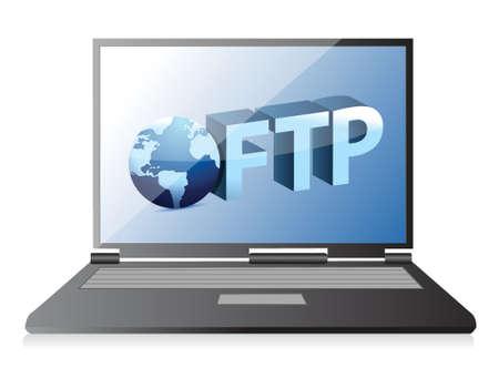 Uploading ftp Server illustration design over a white background Ilustração