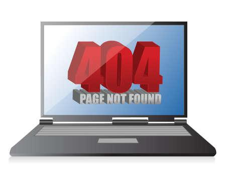 404 error on a laptop illustration design over a white background Stock Vector - 17869281