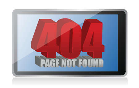 404 error on a tablet illustration design over a white background Stock Vector - 17869269