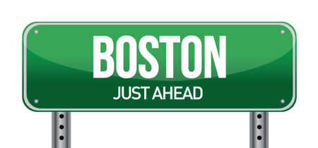 Boston Road Sign illustration design over a white background Stock Vector - 17869241