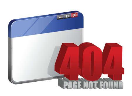 alerts: 404 error on computer browser illustration design over a white background