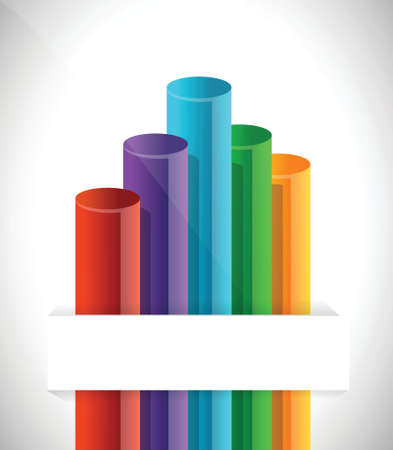 bar graph chart illustration design over a white background