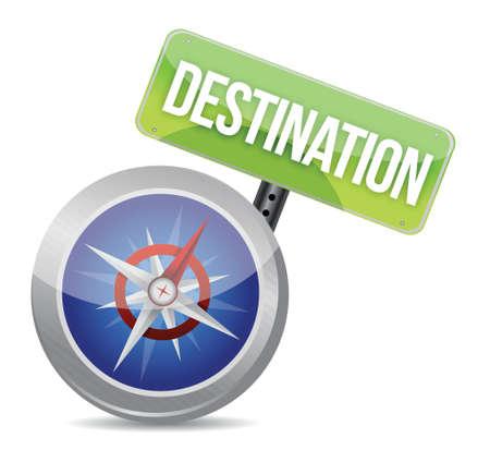 compass destination guidance illustration binary graphic background Stock Vector - 17872274