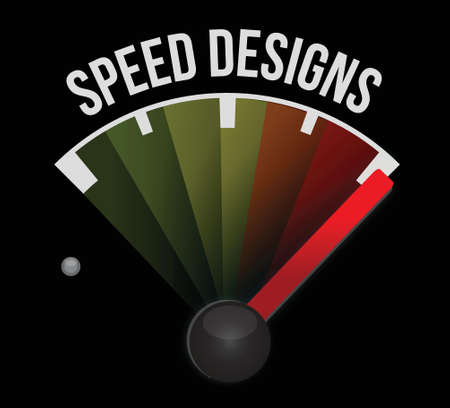 speed design speedometer illustration design over a white background Stock Vector - 17872095