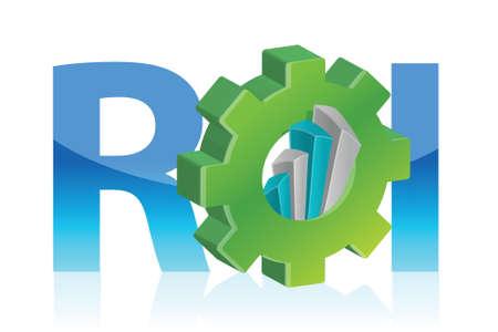 Return on investment business concept illustration design over white