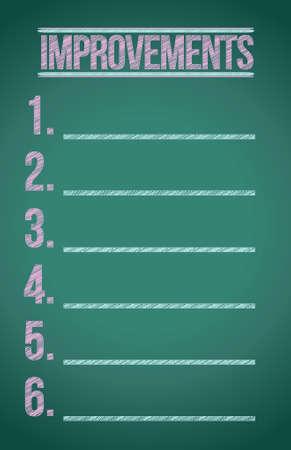 improvements blackboard illustration design graphic over white Stock Vector - 17871918