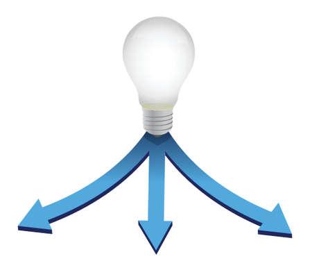 Choice your idea light bulb concept illustration design over white Stock Vector - 17872091