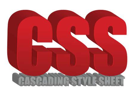 css: CSS text design illustrazione su uno sfondo bianco