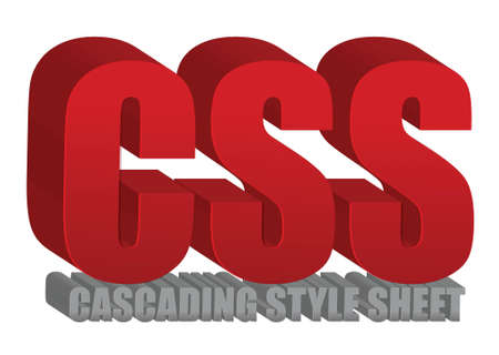 cascading style sheets: CSS text illustration design over a white background
