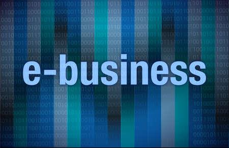 E-business on digital background illustration design over dark Stock Illustration - 17871879
