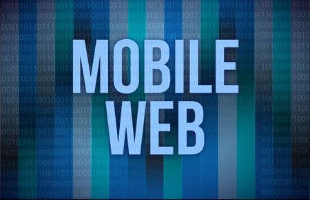 Mobile Web sep concept illustration binary background