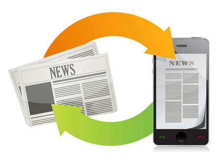 news media concepts illustration design over a white background Stock Illustration - 17871871
