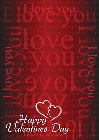 Valentine card I love you illustration design background graphic Vector
