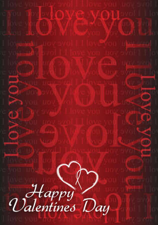 days: Valentine card I love you illustration design background graphic