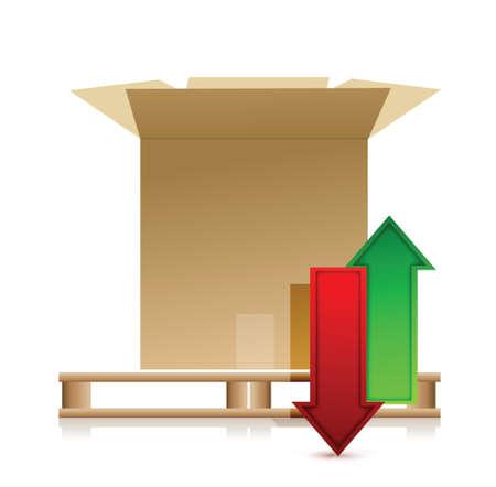 24x7: Data communication concept. Box illustration design over a white background