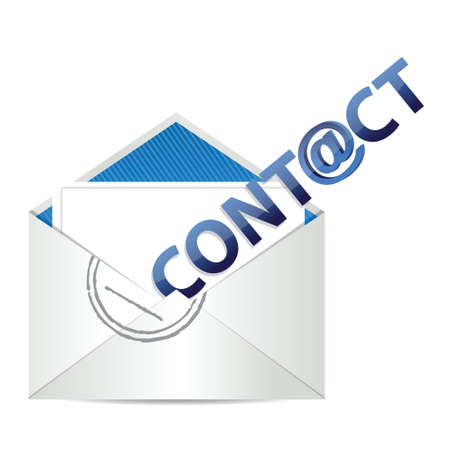 email icon: E mail contact us, illustration design over a white background