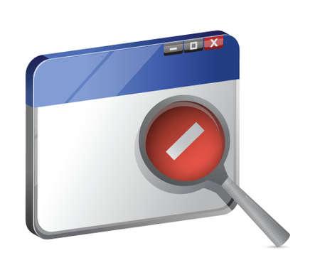 web browser: decrease web browser view illustration design over a white background Illustration