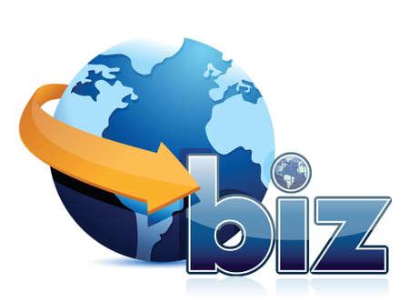 globe arrow: globe arrow and business illustration design over a white background Illustration