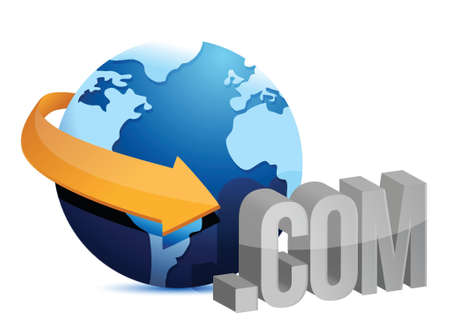 globe arrow: globe arrow and internet connection illustration design over a white background