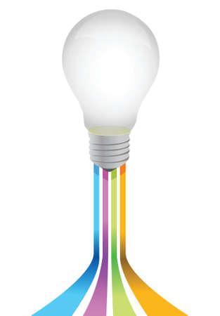 idea light bulb illustration design over a white background Stock Vector - 17872351