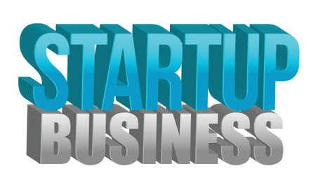 Startup business text illustration design over a white background Vector