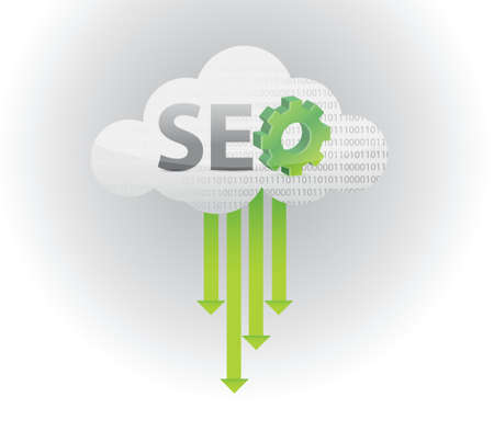 website words: search engine optimization illustration design over a white
