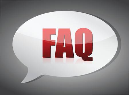 frequently: Frequently ask question concept illustration design over a white background