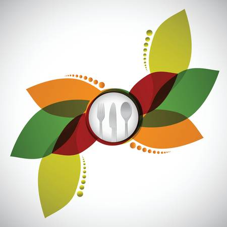 Restaurant menu design illustratie ontwerp op een witte achtergrond Stock Illustratie