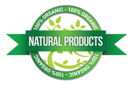 extract: Pure Nature Green Sign illustration design over a white background